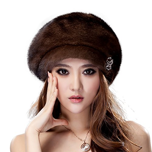 URSFUR Mink Fur Women's Toronto Hat Coffee by URSFUR
