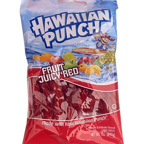 Chewy Licorice (Hawaiian Punch Soda Flavored Licorice Twists(5 Oz Bag) - 6 Ct. Case)