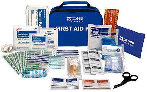Xpress First Aid 156 Piece Multi-Purpose First Aid - Emergency Kit Preparedness Aid First