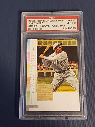 - Baseball MLB 2003 Topps Gallery ARTifact Relics #ARJT Joe Tinker PSA 9 MINT Jersey Cubs