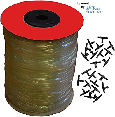 500 Feet 120 Ounce Heavy Professional Durable Clear Flexible Airline Tubing with 44 Piece Air Control Kit, for Aquariums, Terrariums, and Hydroponics - 500 Feet Long- 120 Ounce and 44 Piece Air Control kit Sold by Pidaz …