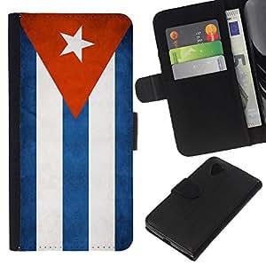 """Be-Star la tarjeta de Cr¨¦dito Slots PU Funda de cuero Monedero caso cubierta de piel Para LG Nexus 5 D820 D821 ( Bandera nacional de la Serie-Cuba"""" )"""
