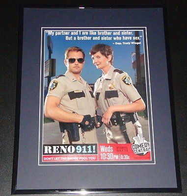 Reno 911 Trudy Wiegel 11x14 Framed ORIGINAL Vintage -