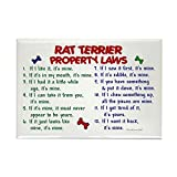CafePress - Rat Terrier Property Laws 2 Rectangle Magnet - Rectangle Magnet, 2
