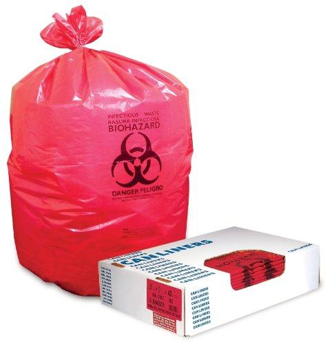 250 Each Case - BAG, WASTE, PRINT, RED, 20-30 GAL, 1.3 MIL ( BAG, WASTE, PRINT, RED, 20-30 GAL, 1.3 MIL ) 250 Each / Case