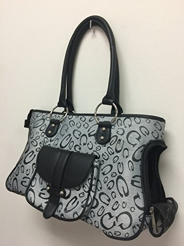 New Designer Printed Purse Pet Dog Cat Tote Soft Carrier, 16