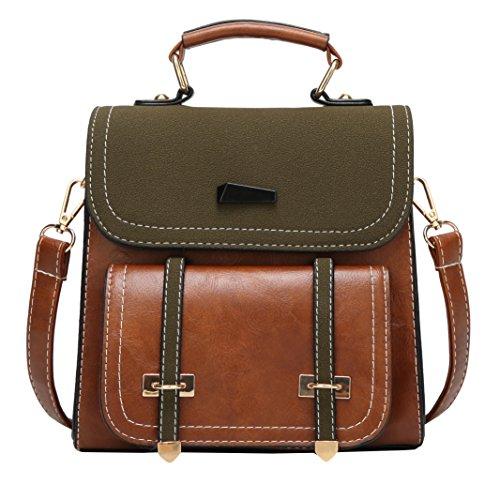 Obosoyo Small Backpack Purse Women Satchels Handbag Fashion Travel Bag Brown by Obosoyo