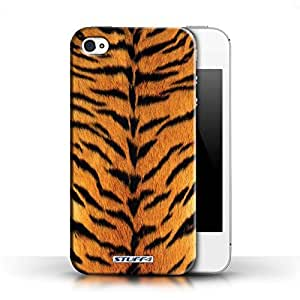 KOBALT? Protective Hard Back Phone Case / Cover for Apple iPhone 4/4S   Orange Design   Tiger Animal Skin/Print Collection