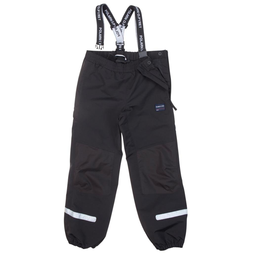 Polarn O. Pyret Waterproof Suspender Shell Pants (6-12YRS) - 8-9 Years/Meteorite by Polarn O. Pyret
