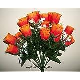 18 Boccioli di rosa, colore: terracotta/arancione