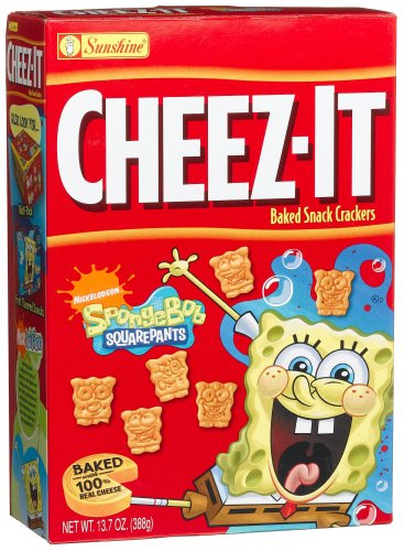 UPC 024100440825, Cheez-It Baked Snack Crackers, Sponge Bob Square Pants, 13.7-Ounce Boxes (Pack of 4)