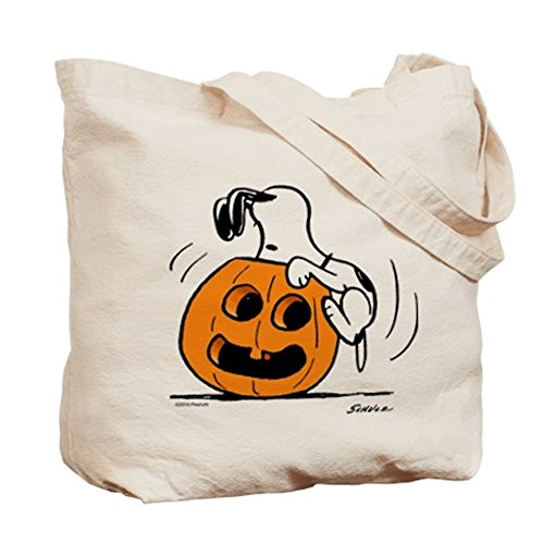 CafePress–Snoopy Jack O 'Lantern truco o trato–Gamuza de bolsa de lona bolsa, bolsa de la compra