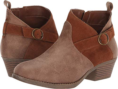 Skechers Women's Lasso - Clasp - Short Belted Bootie with Zipper Ankle Boot, Brown, 11 M ()