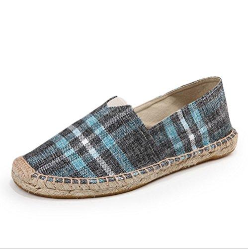 dimensioni moda Un scarpa tessuto pigro scarpe Linen a scarpe di 42 ventilazione tela piede di corda scarpe HAOYUXIANG uomini mano Colore uomo donne cucito e lino alla pedale Nuove green BHXSWqTf