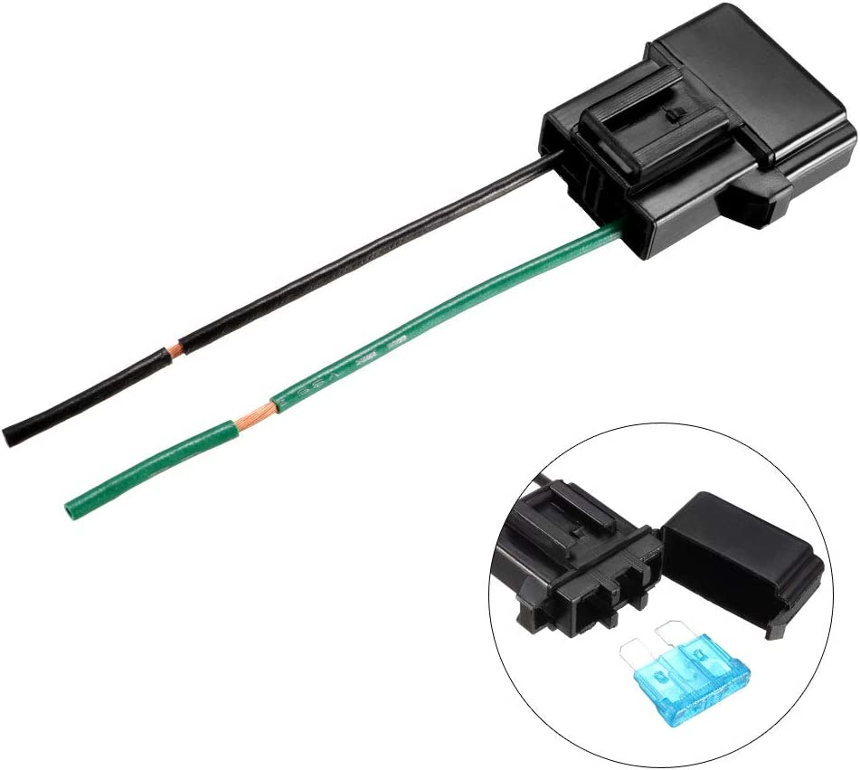 uxcell Fuse Holder In-line Automotive Car Bakelite Blade Fuse Holder Black with 10 Pcs 15A ATC//ATO Blade Fuse