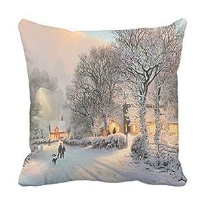 lettert HD funda de almohada cojín naturaleza Hd cuadrado decorativo fundas de almohada sofá almohadas 16x 16