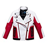 Budermmy Boys Leather Motorcycle Pilot Jackets Toddler Coats (11-12 Year, White)
