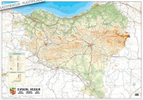 Mapa mural de Euskal Herria (Cartografía): Amazon.es: Txinpartetan S.L: Libros