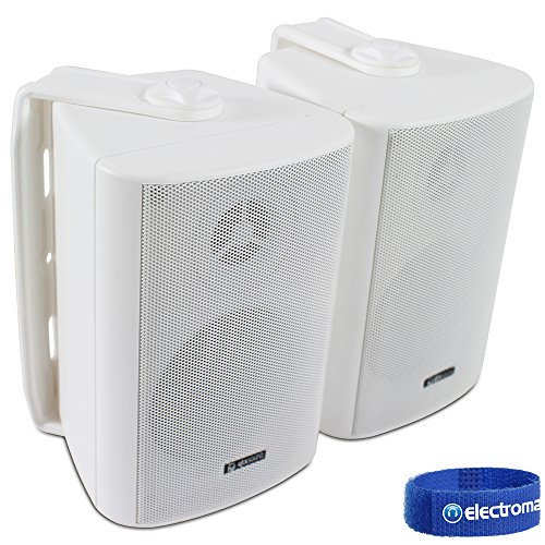 2x Adastra White Wall Mountable Surround Sound Home Audio Hi-Fi Speakers...