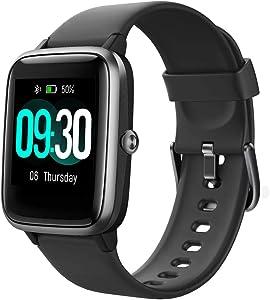 Willful Smartwatch,Reloj Inteligente con Pulsómetro,Cronómetros,Calorías,Monitor de Sueño