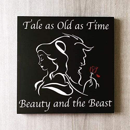 Disney Quote Plaques: Amazon.com: Tale As Old As Time Beauty And The Beast Sign