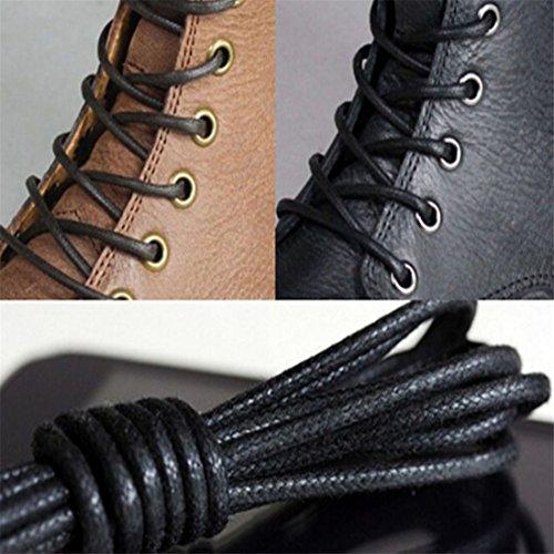 De Zapatos ECYC® De 70cm Pares De Redondos Casuales Cuero De 2 Encerados A01 Cordones Cordones Marrón AlgodóN 77TwOr