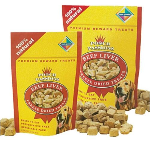 Pooch Passions Freeze Dried Liver Dog Treat Quantity: 2-oz (Pooch Treats Liver)