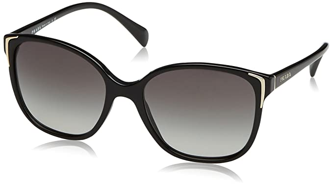 c3836088d74 Amazon.com  Prada PR01OS Sunglasses-Gray Gradient lens Black (1AB3M1 ...