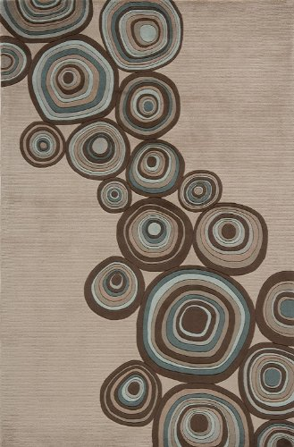 Momeni Contemporary Rectangle Area Rug 2'x3' Mushroom New Wave Collection (Mushroom Momeni)