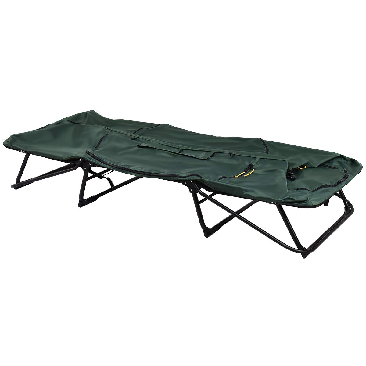 GYMAX Tent Cot, 1 Person Foldable Camping Waterproof Shelter with Window Carry Bag by GYMAX (Image #4)