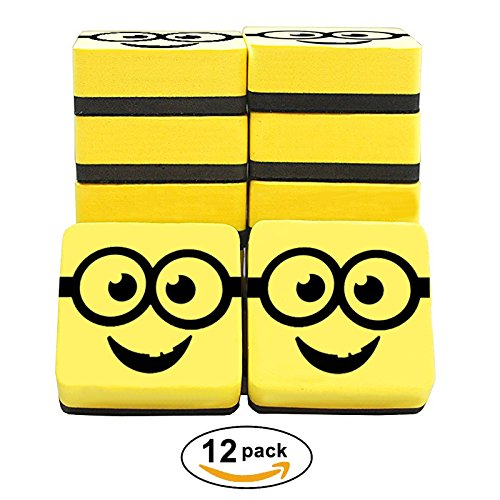 Best Magnetic Whiteboard Erasers, 12 Pack, 2 inch Erasers, Ideal for Classrooms, Offices, Home, Teachers, Children. 100+ Video Recipes Ebook. 100% Satisfaction Guarantee