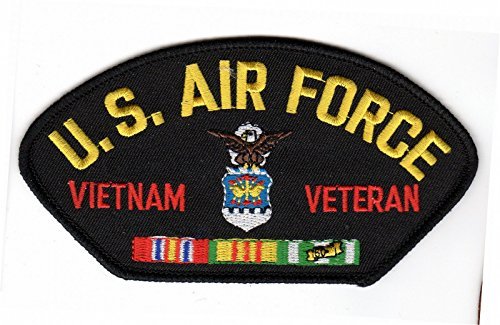 (Air Force Vietnam Veteran HMC Black Hat Patch)