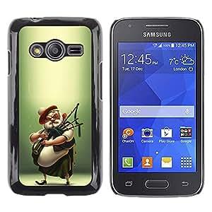 Be Good Phone Accessory // Dura Cáscara cubierta Protectora Caso Carcasa Funda de Protección para Samsung Galaxy Ace 4 G313 SM-G313F // Scottish Bagpipe Player Kilt Man