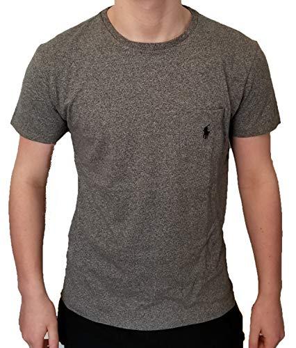 Classic Fit Logo T-shirt - Polo Ralph Lauren Men's Classic Fit Pony Logo Short Sleeve Crewneck Front Patch Pocket T-Shirt (Small, Gunmetal Heather)