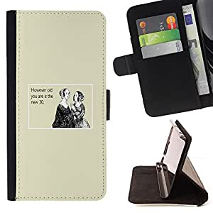 DEVIL CASE - FOR Sony Xperia Z3 D6603 - Age Birthday Women Quote Noblewoman Life - Style PU Leather Case Wallet Flip Stand Flap Closure Cover