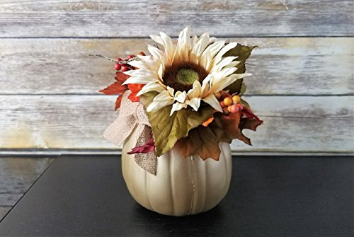 - Gold Pumpkin Floral Centerpiece