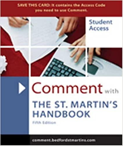 Ilmaisia mp3-ladattavia äänikirjoja Comment for The St. Martin's Handbook Suomeksi CHM 0312410042