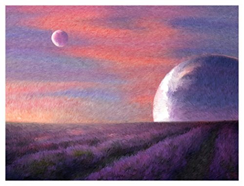 Abandoned Lavender Fields of Xorrax Nine handmade Original Fine Art Print A3 (11.7