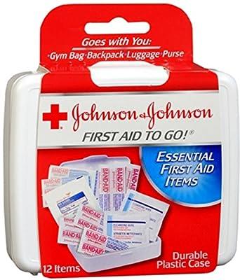 JOHNSON & JOHNSON First Aid To Go Kit 12 Items 1 Each from Johnson & Johnson