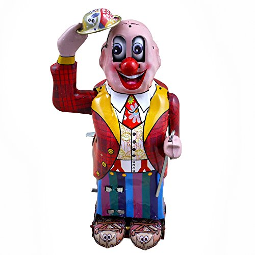 RoyaltyRoute Vintage Wind-up Tin Toys Collectibles Dandy Clown Joker by RoyaltyRoute (Image #1)