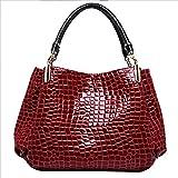 Women Alligator Print Top Handle Bag Embossed Crocodile Pattern Handbag Tote Bag