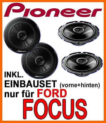Lautsprecher Pioneer Für Vorne Und Hinten Einbauset Für Ford Focus Mk1 Just Sound Best Choice For Caraudio Elektronik
