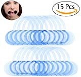 Pack of 15 Dental Cheek Retractor Mouth Opener for Speak Out Game, Teeth Whitening Lip Retractor for Watch Ya Mouth and Adult Fun Games, Size M by Bassion