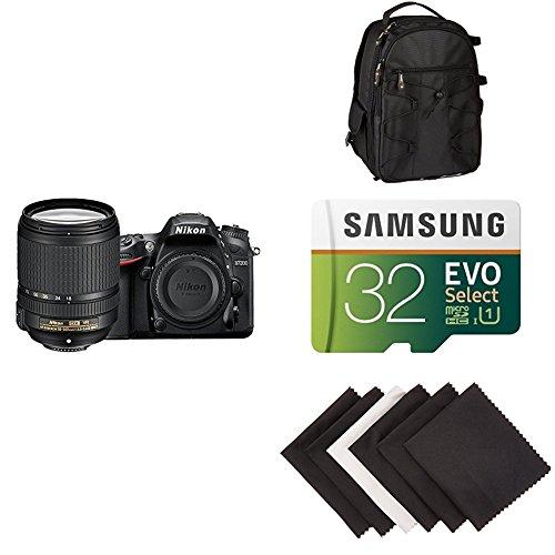 Nikon D7200 DX-format DSLR w/ 18-140mm VR Lens (Black) AmaoznBasics Accessory Bundle