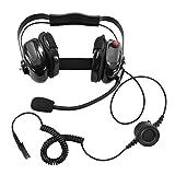 Bommeow BHDH50-BK-AX Ear Pad Headphone Headset for Motorola Mototrbo XPR3500 XPR3300 DP2400 in Black