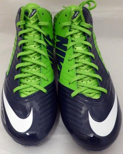 Russell Wilson Autographed Signed Nike Cleats Shoes Seahawks Rw Holo 130472 Autographed NFL Cleats