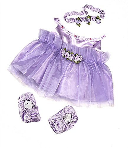 (Lavender Ballerina Teddy Bear Clothes Outfit Fits Most 14