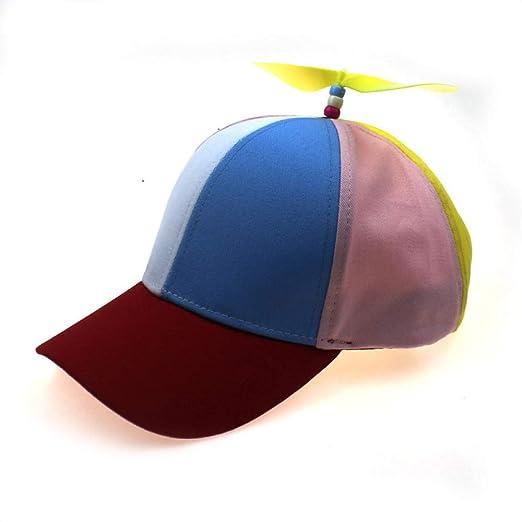 sdssup Sombrero de bambú con hélice, Gorra de béisbol ...