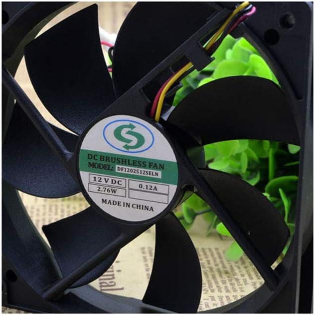 for DF1202512SELN 12025 12V 0.10A 12CM Chassis Power Fan Silent Fan