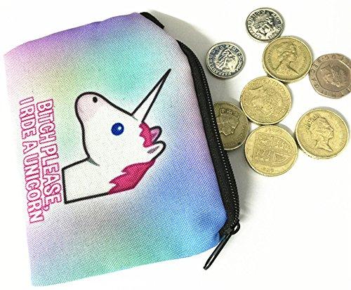s'il vous Bitch Rainbow Design Kukubird Square portefeuilles Licorne plaît Print 4OaU5Uqw